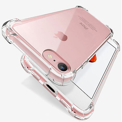 Shockproof Silicone Phone Case for iPhone Case Transparent Protection Back Cover