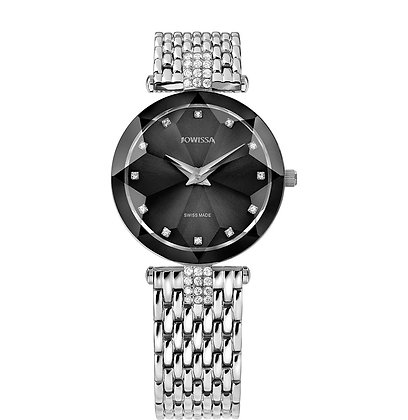 Facet Strass Swiss Ladies Watch J5.637.M