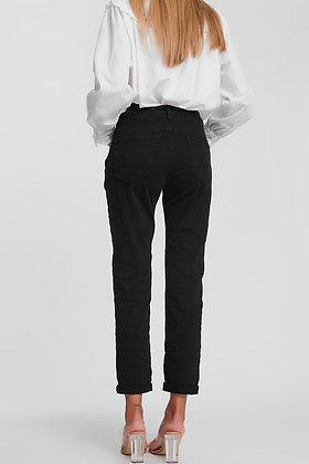 Straight Leg High Waisted Jeans in Black