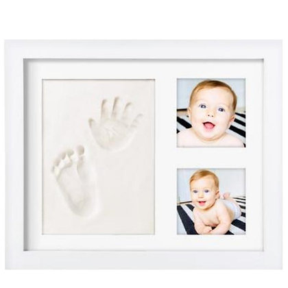 Baby Handprint Kit by Laura Baby! NO MOLD! Baby Picture Frame & Non Toxic CLAY!