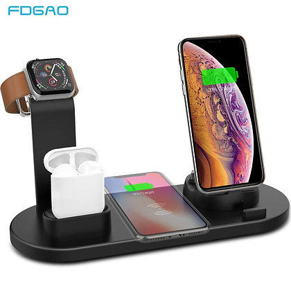 4 in 1 Wireless Charging Stand for Apple Watch 6 5 4 3 iPhone