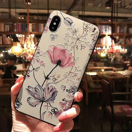 3D Emboss Flower Case for Samsung Galaxy S20 FE S10 Lite S8 S9 Plus Note 20