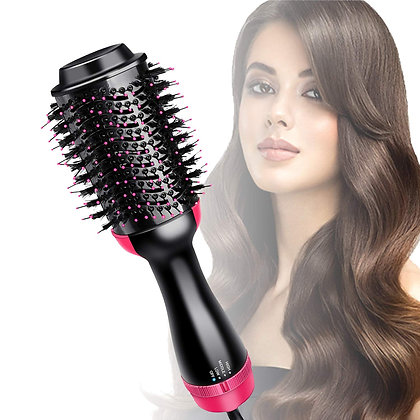 2In1 One Step Hair Dryer and Volumizer Brush Straightening Curling Iron