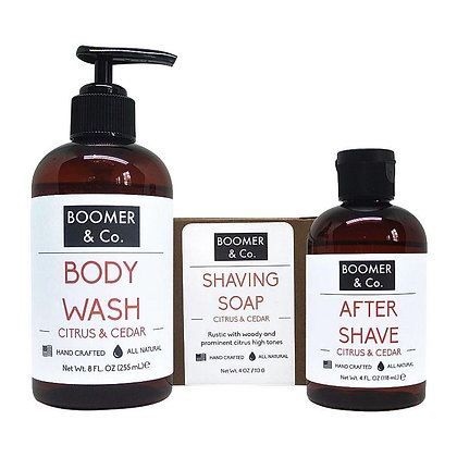 Citrus & Cedar Men's Grooming Kit