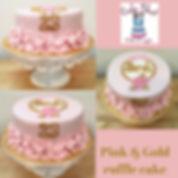 pink & gold cake