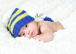 Hand made crochet baby hat