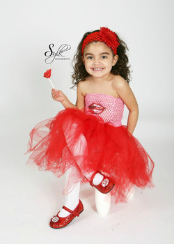 My lil Valentine Tutu set $25