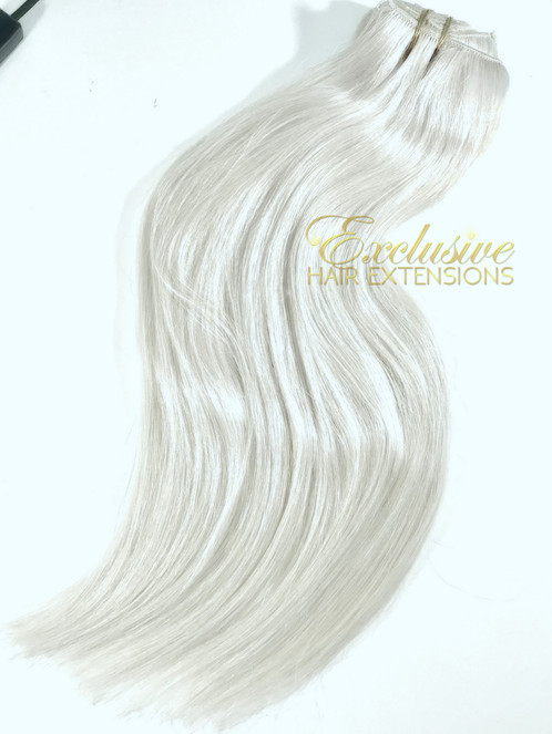 Clip In 60aa Ice Angel Platinum Ash Blonde Superior Virgin