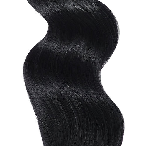 #1 JET BLACK TAPE HAIR EXTENSIONS From