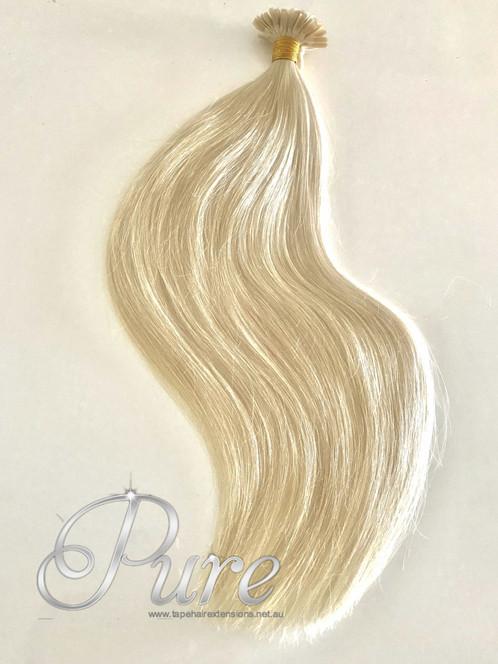 Nail Tip Keratin Hair Extensions 613 Golden Blonde Light