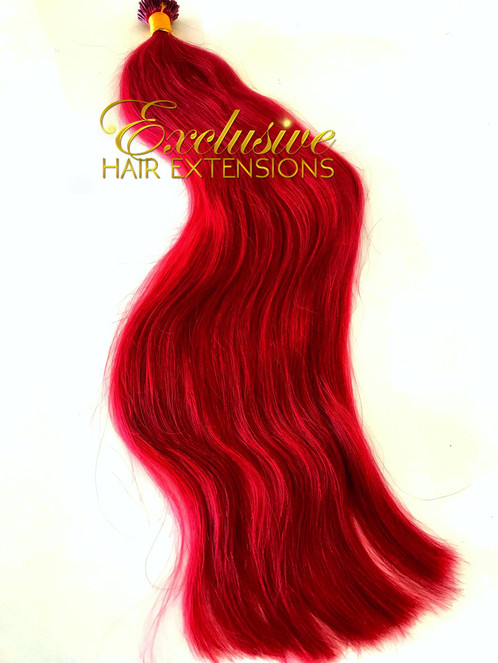Micro Bead Firey Red Bright Red Wholesale Russian Hair