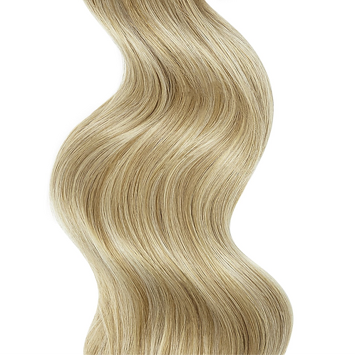 #16/22 BLONDE CARAMEL HIGHLIGHTS WEFT HAIR EXTENSIONS