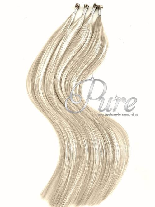 Micro Bead Hair Extensions 613 Golden Blonde Light Golden Blonde