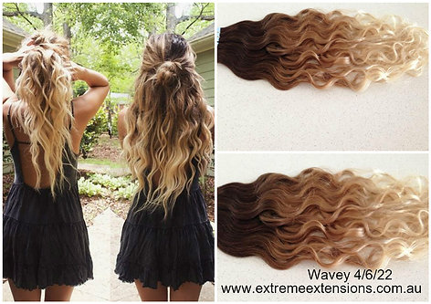 Extreme blends best hair extensions virgin remy hair wavy ombre balayage tape hair extensions 40pc pmusecretfo Image collections