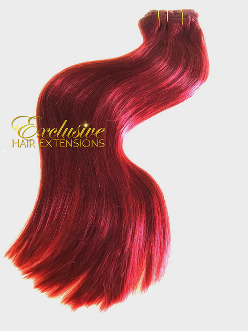 Clip In Ruby Fire Bright Red Wholesale Russian Hair