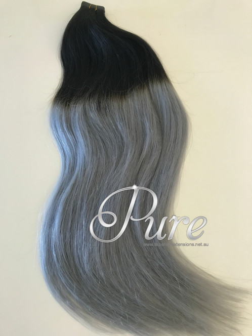 1b Grey Natural Black To Balayage Ombre Luxury Russian Grade22