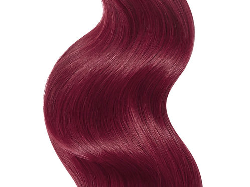 #99A BRIGHT BURGUNDY RED TAPE HAIR EXTENSIONS From
