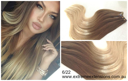 Ombre balayage tape hair extensions 22 extreme blends our hair is not coarse or dry like other types of hair and offers a silkier softer feel pmusecretfo Image collections