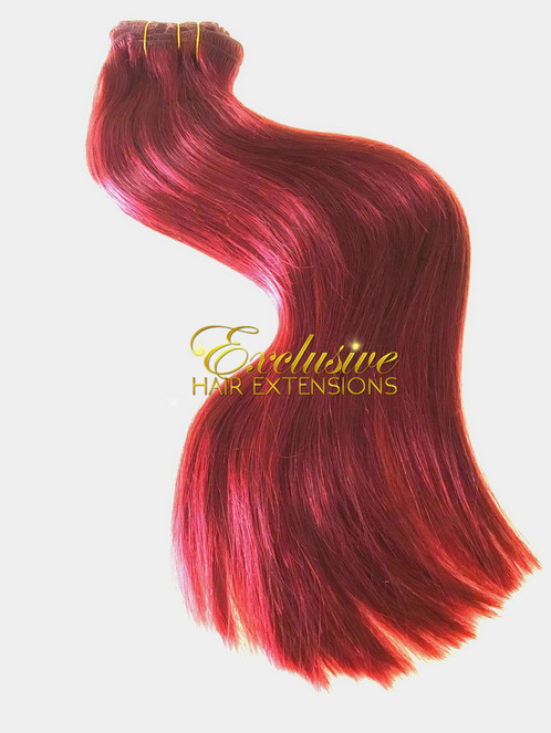 Clip In 200g Firey Red Bright Red