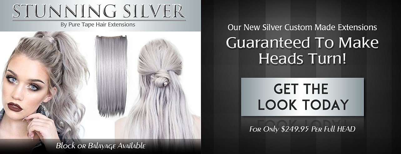 222 dark brown to cool light blonde short fade roots luxury silver grey hair extensions pmusecretfo Gallery