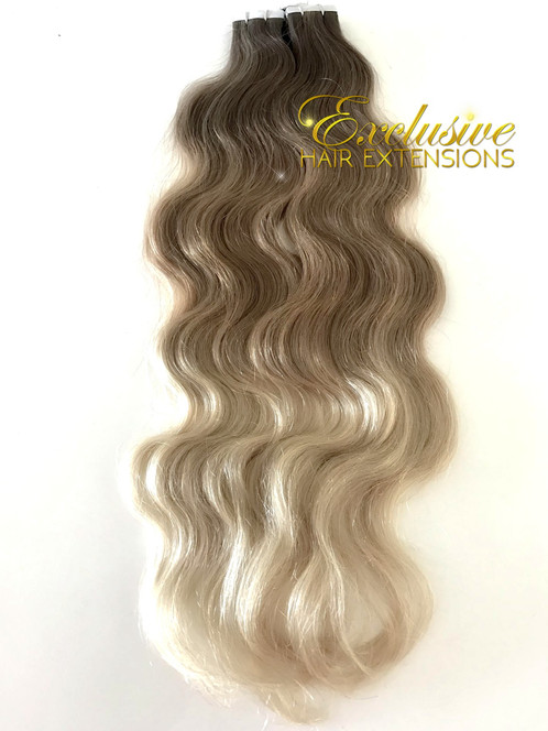 214 Wavy Balayage Tape In 22 100 Grams 40 Pieces Full Head