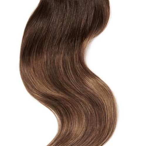 #2/8/6 DARK BROWN LIGHT BROWN BALAYAGE CLIP IN HAIR EXTENSIONS 150 GRAMS From