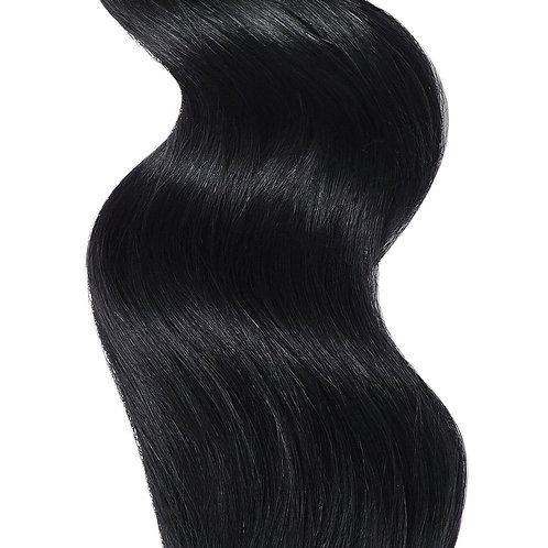 #1 JET BLACK WEFT HAIR EXTENSIONS From
