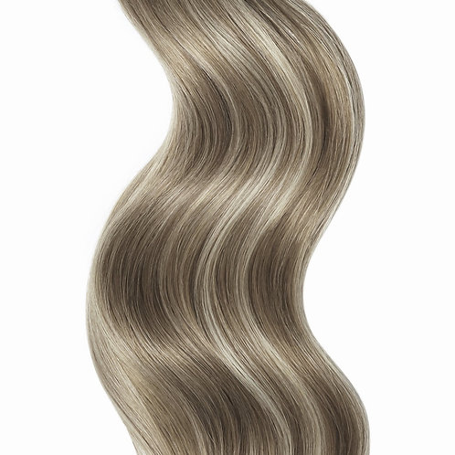 #10 ASH BROWN TAPE HAIR EXTENSIONS From