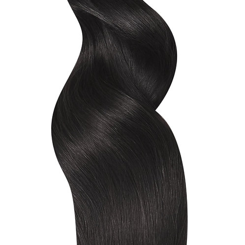 #1B NATURAL BLACK TAPE HAIR EXTENSIONS From