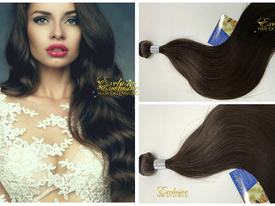 Superior virgin russian textured human hair extensions exclusive 4 virgin medium cool brown virgin weft weave hair extensions pmusecretfo Image collections