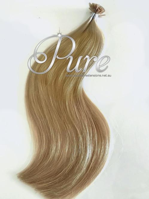 Nail Tip Keratin Hair Extensions 16 Caramel Blonde Wheat Blonde