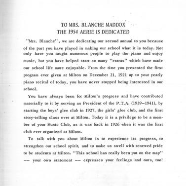 1954 Yearbook Dedication
