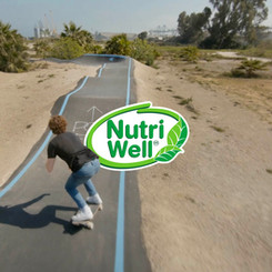 Lifestyle ad for cereal bar NutriWell