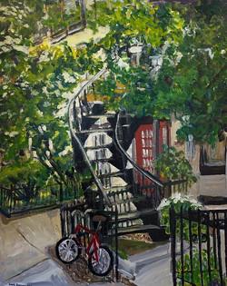 bike and stairs
