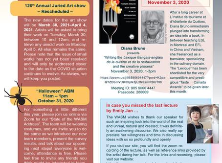 WASM Newsletter for October 19, 2020 (list of web links below)
