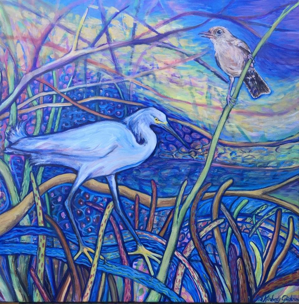 l.Glickman-Egrets_in_mangrove-22x22-A