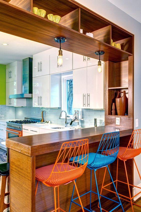 brixel architecture interior branding breakfast counter kitchen bar stools conversation nooks