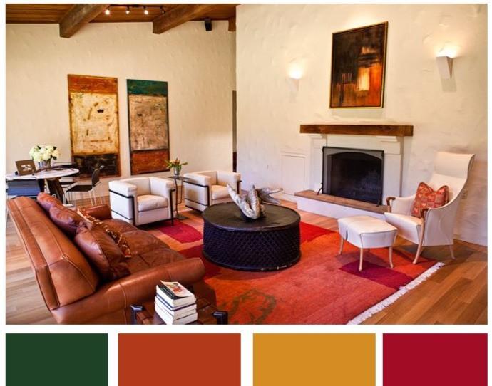 color palette magenta coral orange color of the year brixel architecture interior design branding