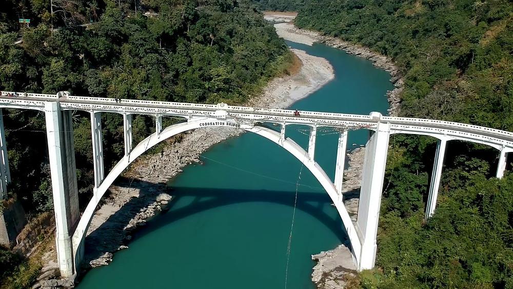 Bridge Architecture Teesta Coronation Bridge Reinforced Concrete Arch Framework Darjeeling West Bengal India Spandrel Arch BridgeTravel Tourism