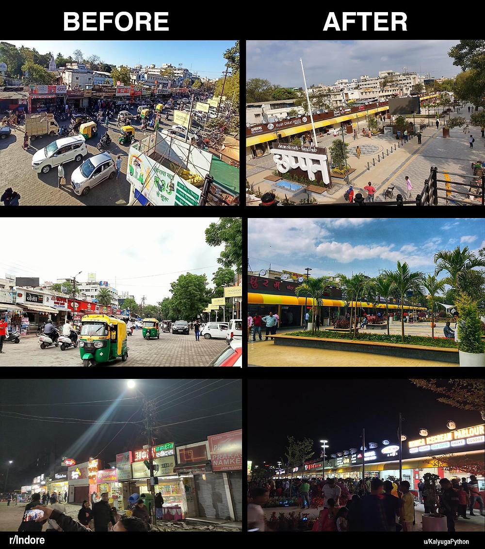 Chhappan Dukaan Indore smart food street clean city 2020