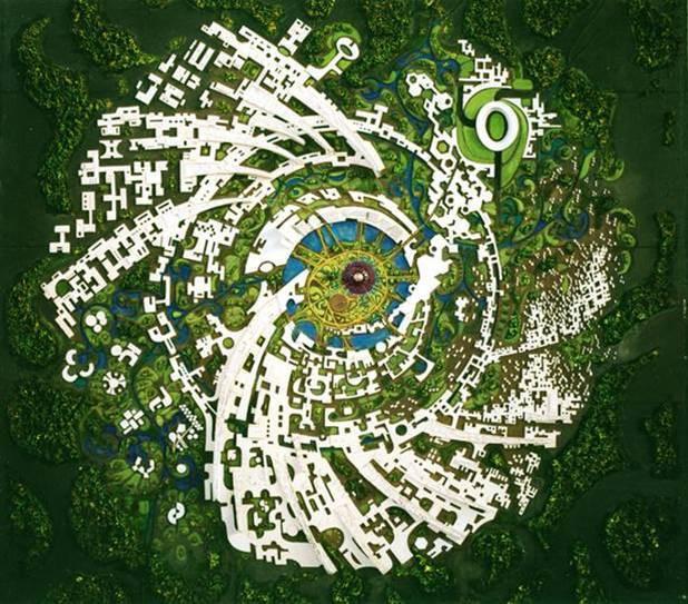 Brixel Architecture Auroville Township Independent India Puducherry Mirra Alfassa Matrimandir