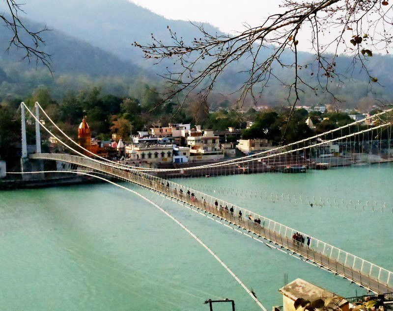 Brixel Architecture Ram jhula Suspension Bridge Rishikesh Uttrakhand Travel Tourism