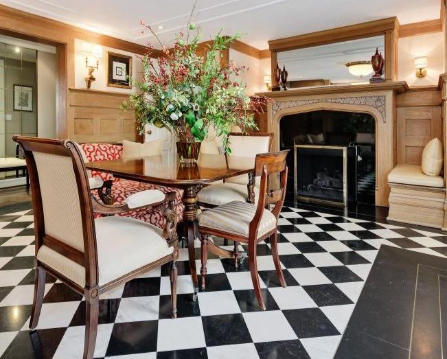 checkered floor vintage brixel architecture interior branding color refurbished retro