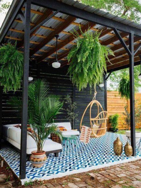 brixel architecture interior branding open terrace balcony pergola swing cane furniture seating area conversation nooks