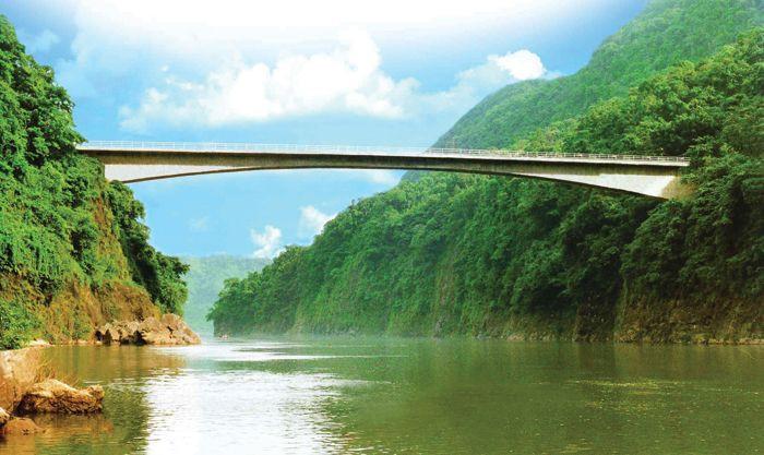 Brixel Architecture Engineering Jadukata Bridge Meghalaya Single span Cantilevered Bridge Travel Tourism India