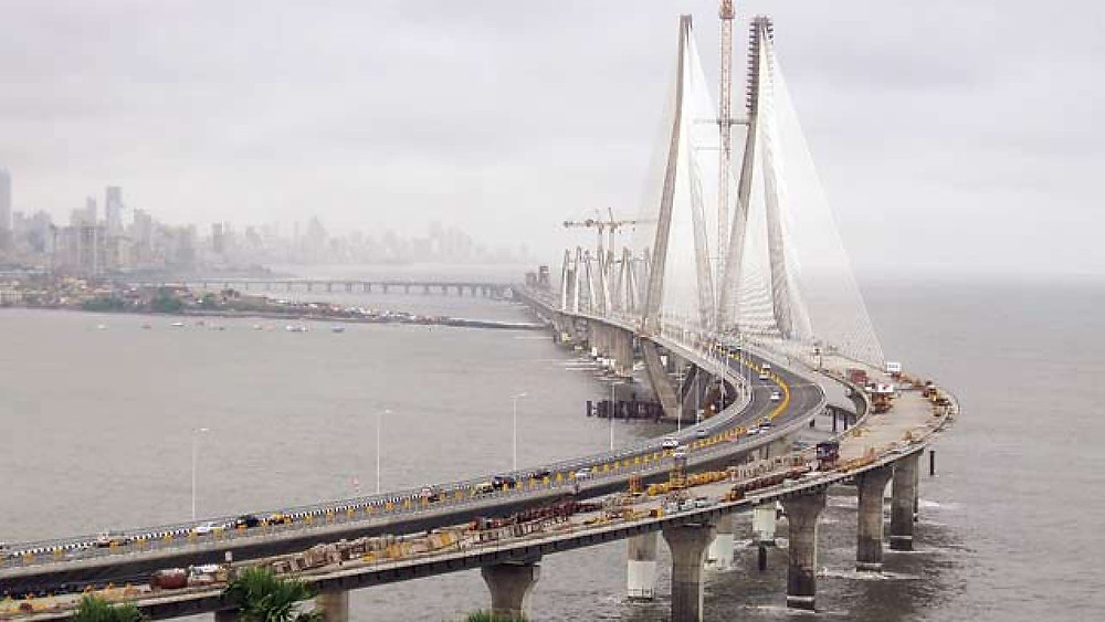 Brixel Architecture Engineering Bandra-Worli Sea link Mumbai Maharastra India Travel Tourism Cable Stayed Bridge