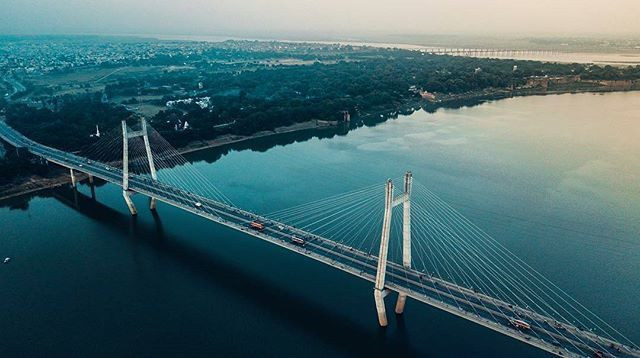 Brixel Architecture Engineering Suspension Bridge Prayagraj Allahabad India Travel Tourism