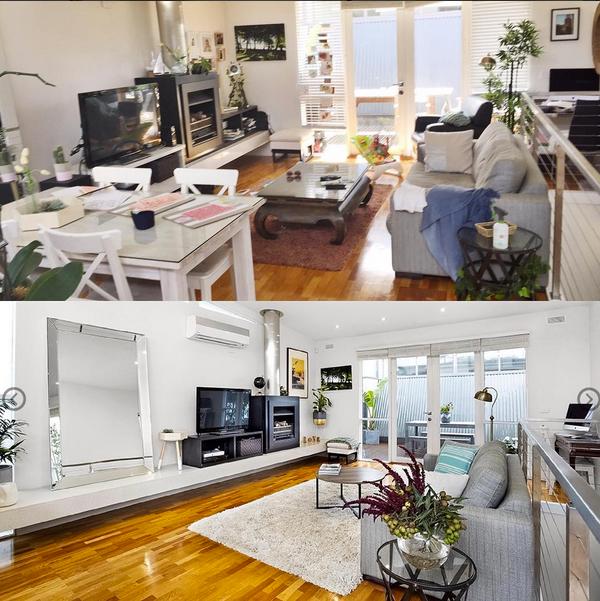 De-clutter tiding storage furniture revamp living room upgrade space on budget brixel architecture interior design