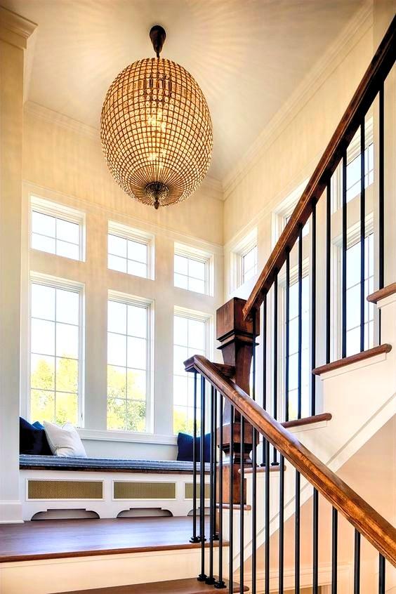brixel architecture interior branding bay window seat landing chandelier conversation nook cozy