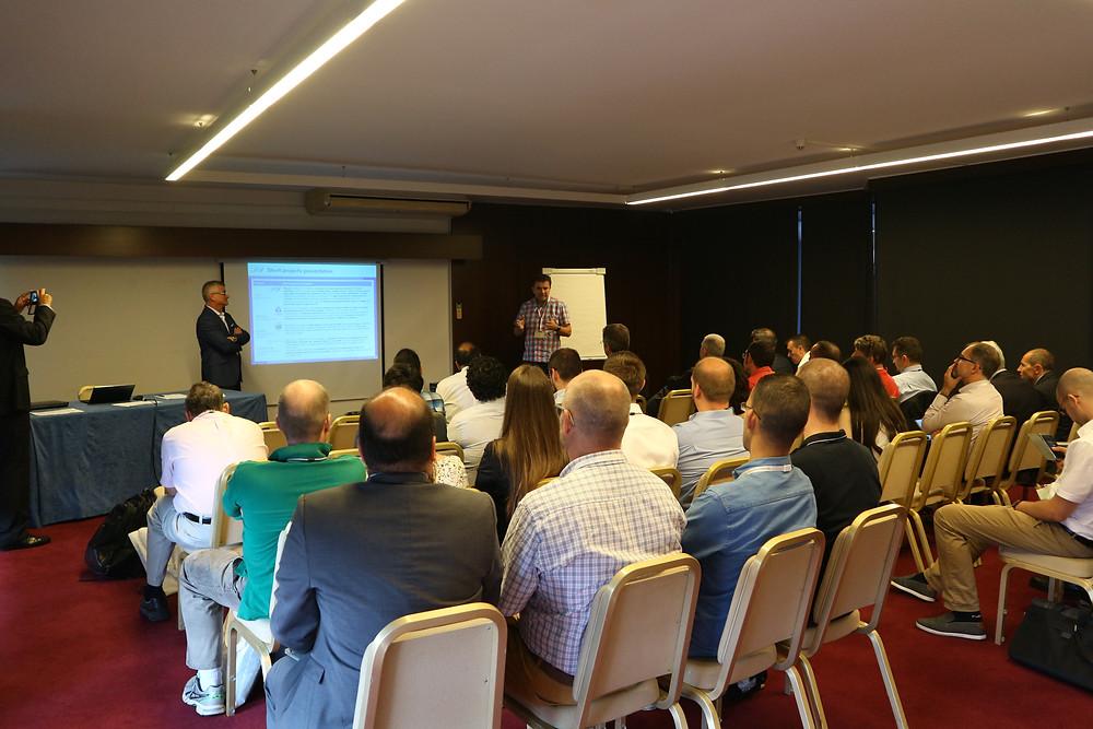 DIGICOR coordinator Arnd Schirrmann (Aibus) presenting project